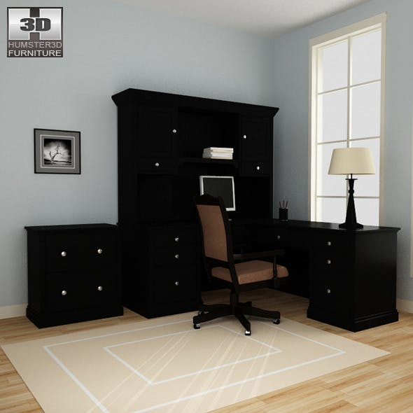 Home Workplace furniture 06 Set - 3DOcean Item for Sale