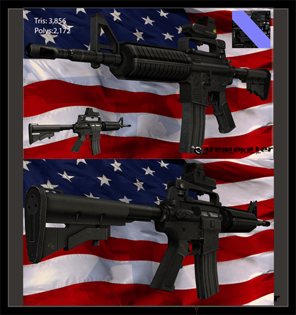 M4A1 Assault Carabine - 3DOcean Item for Sale