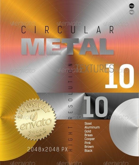 Circular Metal Texture - 3DOcean Item for Sale