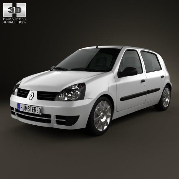 Renault Clio Mk2 5-door 2005 - 3DOcean Item for Sale