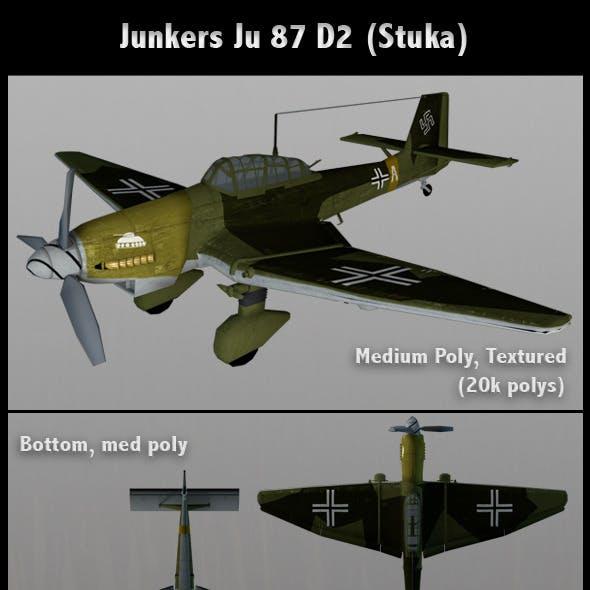 Junkers Ju 87 D2 Stuka (Med Poly)