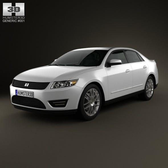 Generic Sedan 2013 - 3DOcean Item for Sale