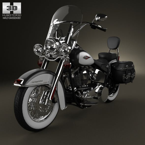 Harley-Davidson Heritage Softail Classic 2012 - 3DOcean Item for Sale