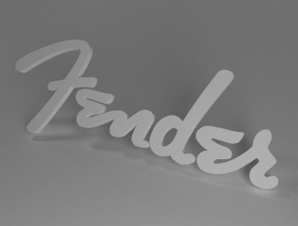 Fender Logo - 3DOcean Item for Sale