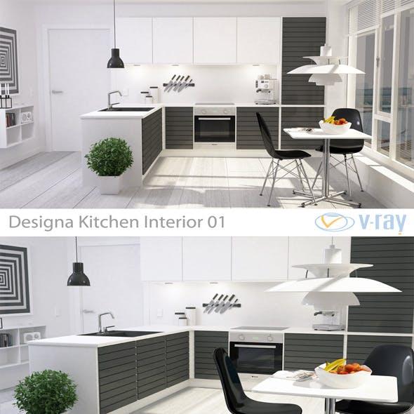 Modern Kitchen Interior 001