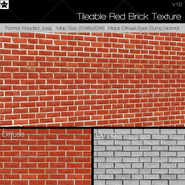 Tileable Brick texture 2