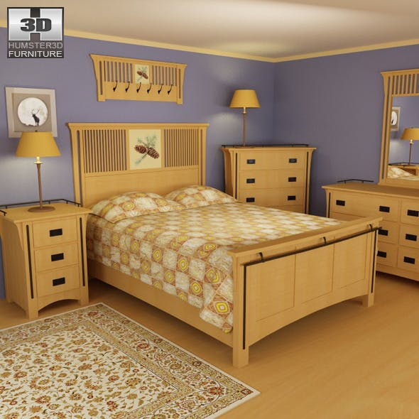 Bedroom Furniture 22 Set  - 3DOcean Item for Sale