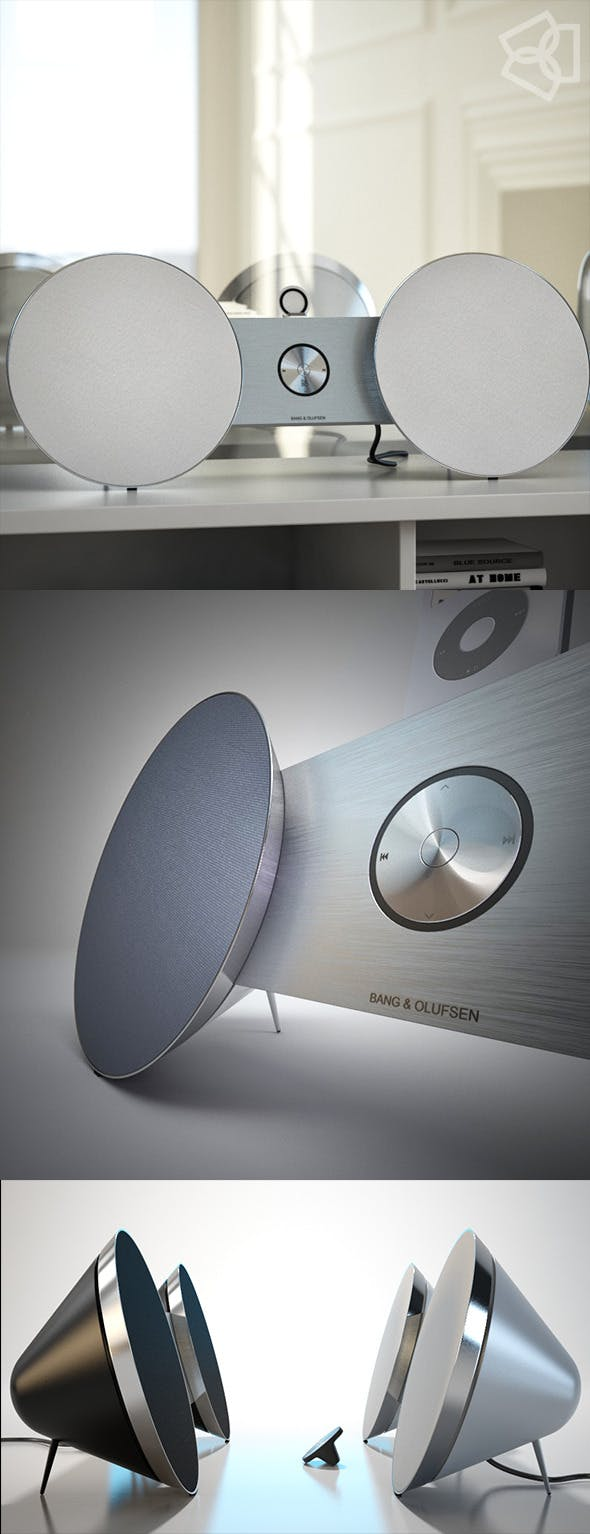 B&O BeoPlay A8  3D model - 3DOcean Item for Sale