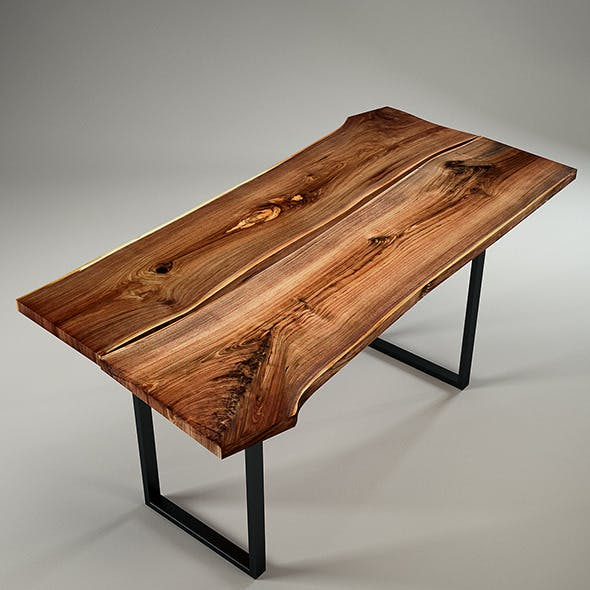 Wood Slab Table by IGN-Design Switzerland - 3DOcean Item for Sale