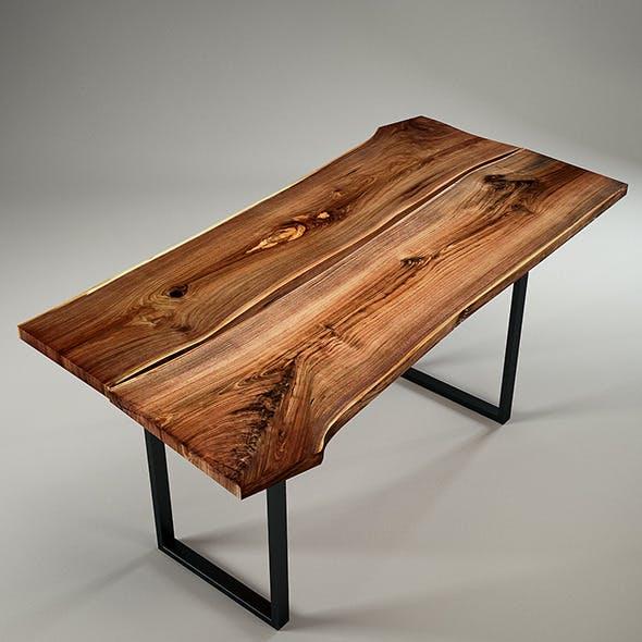 Wood Slab Table by IGN-Design Switzerland