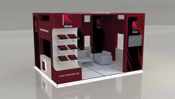Exhibit Stand 3x4 - 3DOcean Item for Sale