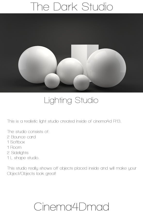 The dark studio - 3DOcean Item for Sale