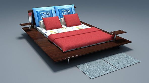 Low poly Bed - 3DOcean Item for Sale