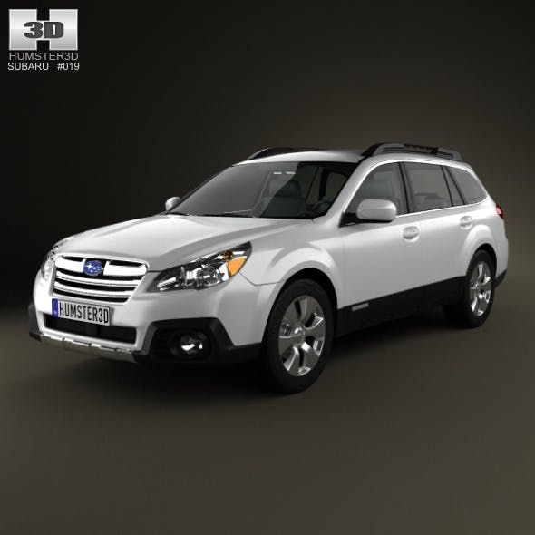 Subaru Outback limited US 2013 - 3DOcean Item for Sale