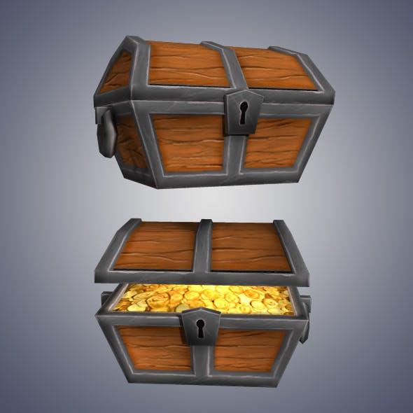 Low Poly Gold Chest