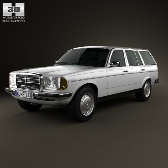 Mercedes-Benz E-Class W123 estate 1975 - 3DOcean Item for Sale