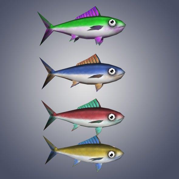 Low Poly Tuna Fish