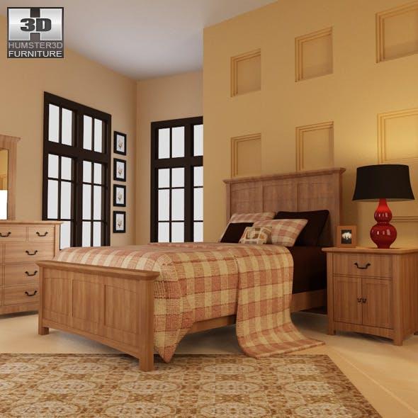 Bedroom Furniture 23 Set - 3DOcean Item for Sale