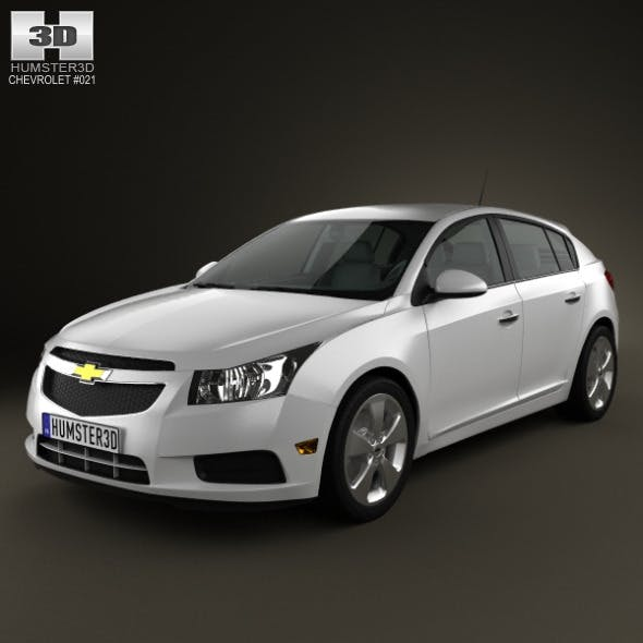 Chevrolet Cruze hatchback 2012 - 3DOcean Item for Sale