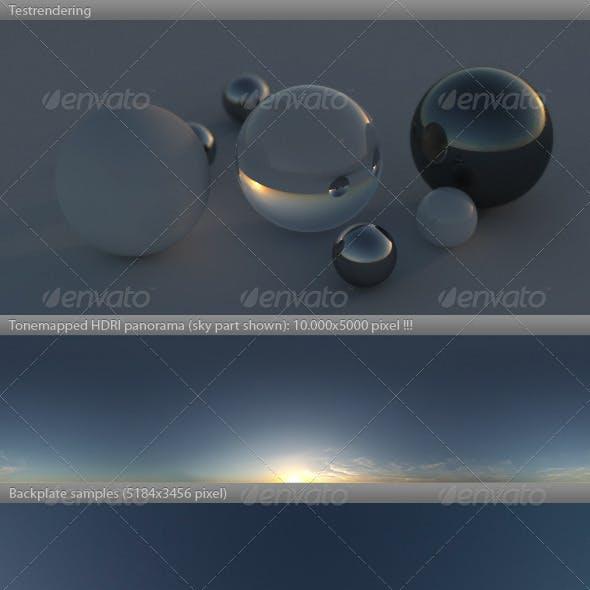 HDRI spherical sky panorama -1755- dusk twilight