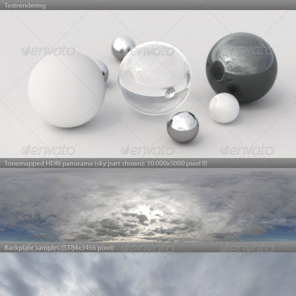 HDRI spherical sky panorama -1306- cloudy winter