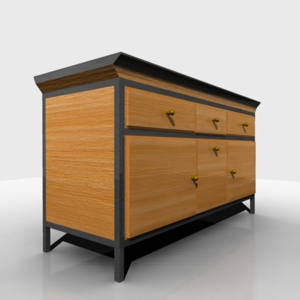 Cabinet Table - 3DOcean Item for Sale