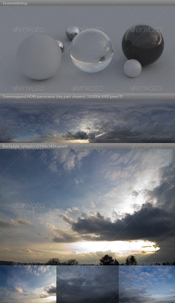 HDRI spherical sky panorama -1901- spring evening - 3DOcean Item for Sale