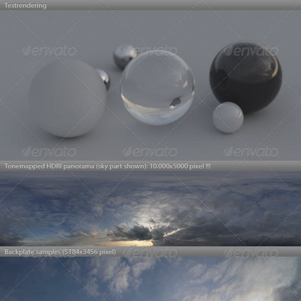 HDRI spherical sky panorama -1901- spring evening