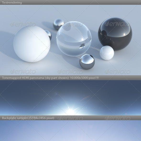 HDRI spherical sky panorama -1720- clear sunny