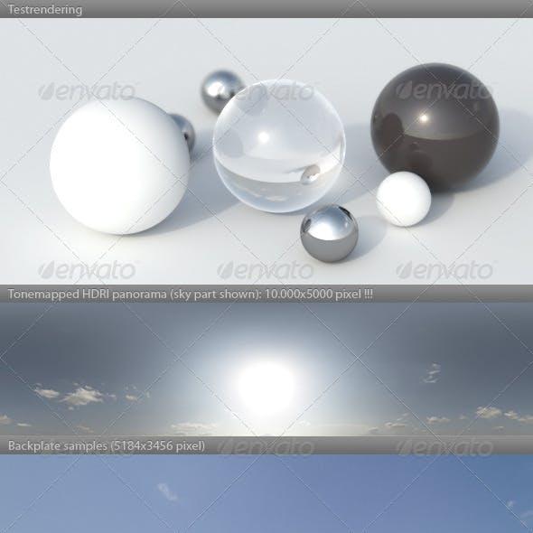 HDRI spherical sky panorama -1654- summer sunny
