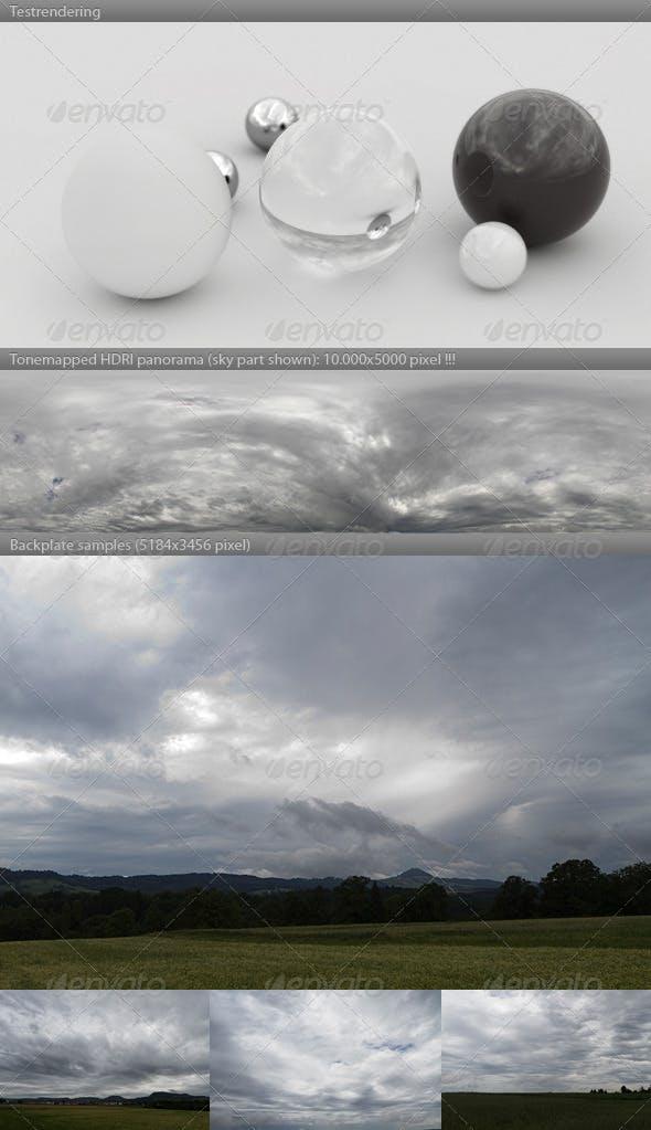 HDRI spherical sky panorama -1451- stormy clouds - 3DOcean Item for Sale