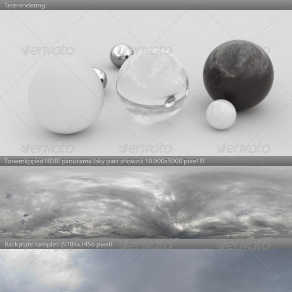 HDRI spherical sky panorama -1451- stormy clouds