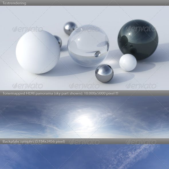 HDRI spherical sky panorama -1421- summer daylight