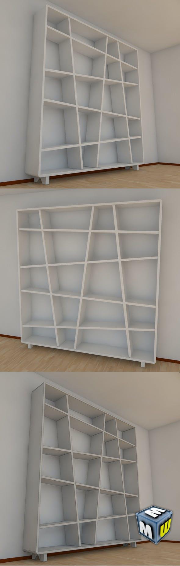 Bookshelf 10 MAX 2011 - 3DOcean Item for Sale