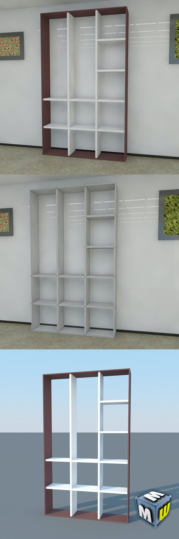 Bookshelf 15 MAX 2011 - 3DOcean Item for Sale