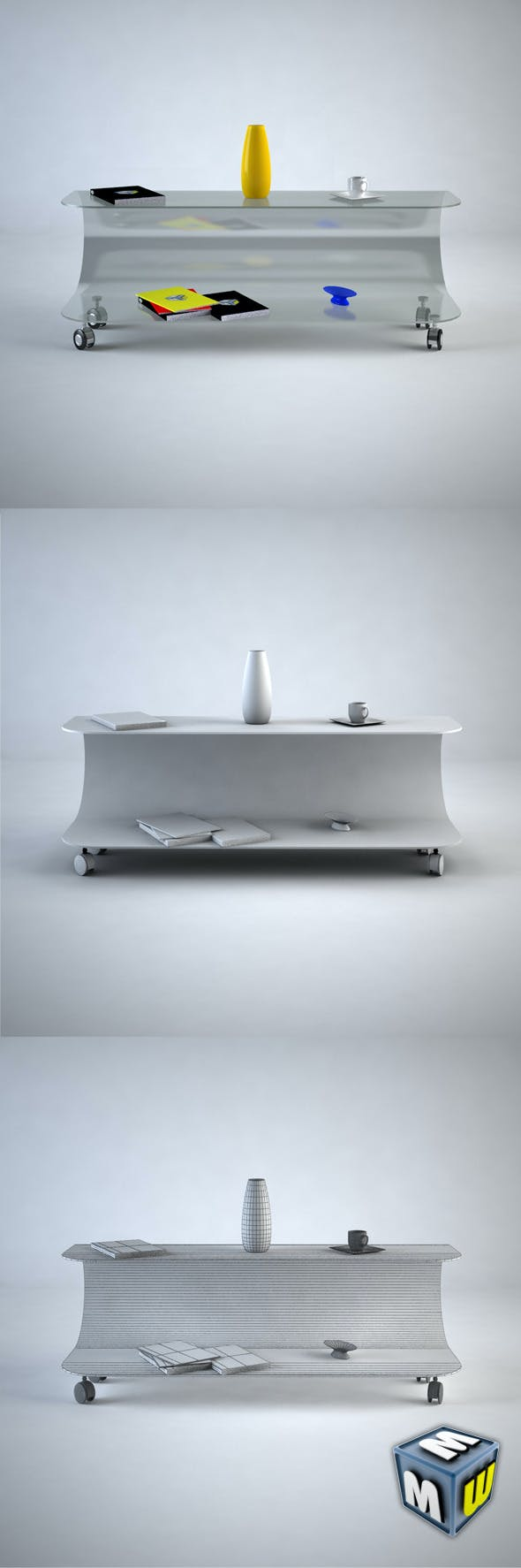 Coffee Table 2 MAX 2011 - 3DOcean Item for Sale