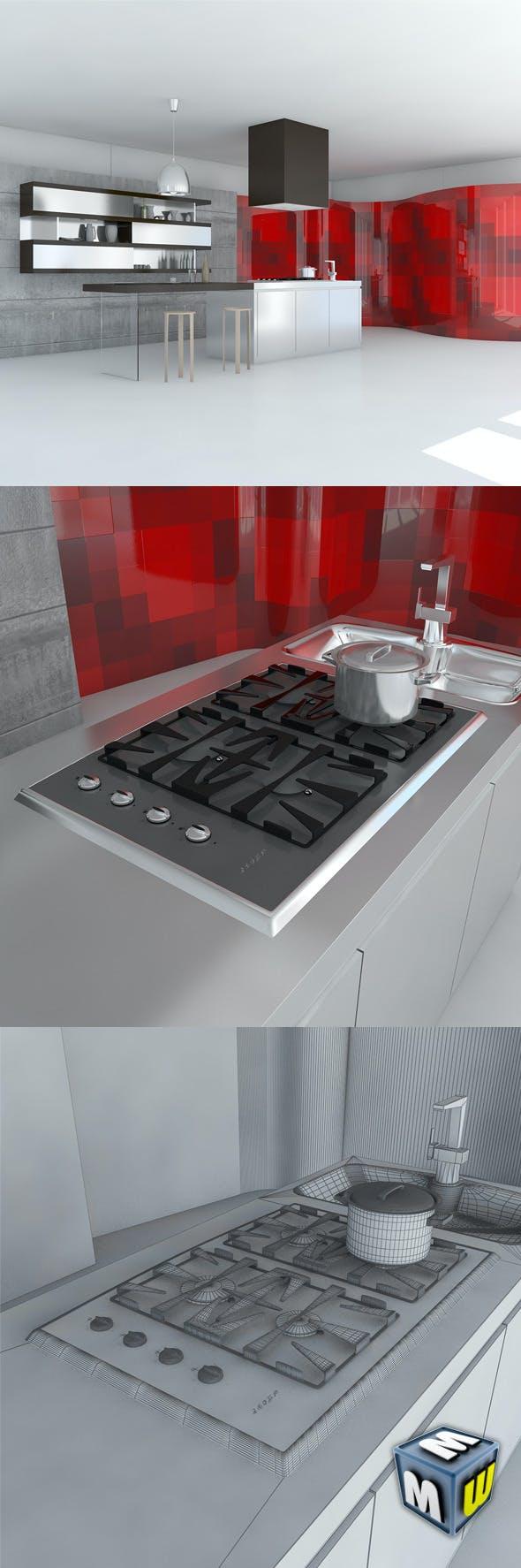 Kitchen Minimal Scene - 3DOcean Item for Sale