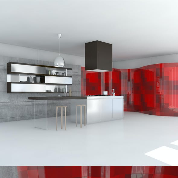 Kitchen Minimal Scene
