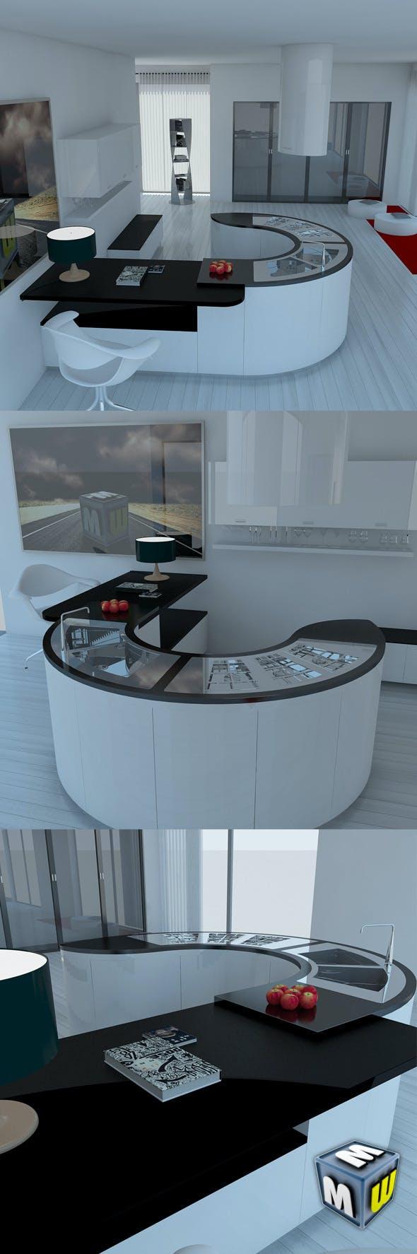 Kitchen Modern 2 MAX 2011 - 3DOcean Item for Sale