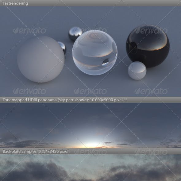 HDRI spherical sky panorama -1731- fall evening