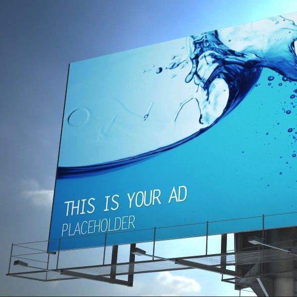 3D Billboard Mockup Scene - Max & V-Ray
