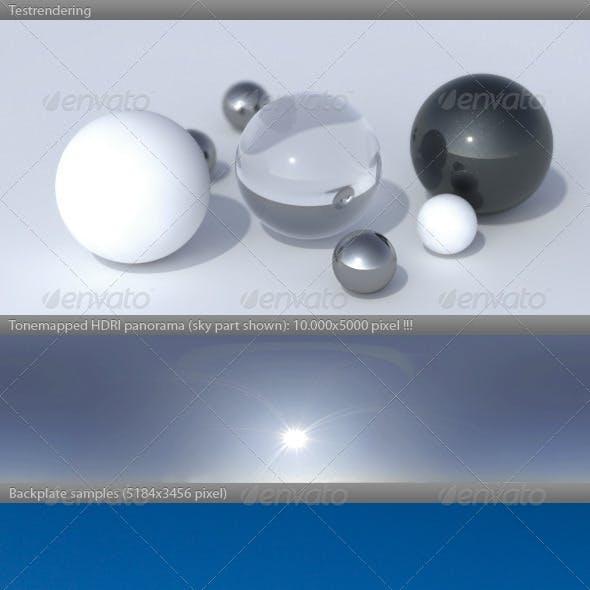 HDRI spherical panorama -0921- summer morning