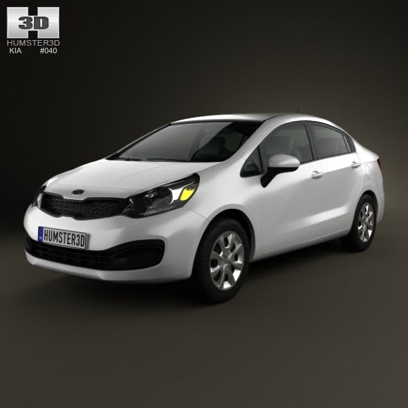 Kia Rio (US) sedan 2012 - 3DOcean Item for Sale