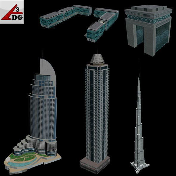 Low-poly  Buildings [DUBAI] - 3DOcean Item for Sale