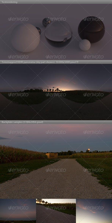 HDRI spherical sky panorama -1944- sunset - 3DOcean Item for Sale