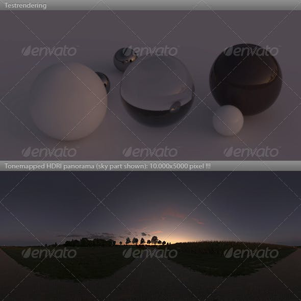 HDRI spherical sky panorama -1944- sunset