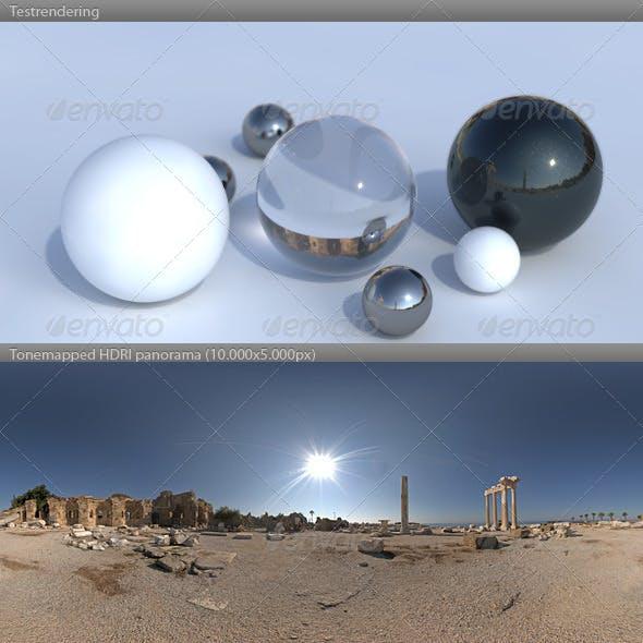 HDRI spherical panorama -0933- sunny Apollo Temple