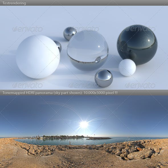 HDRI spherical sky panorama -0858- sun clear sky