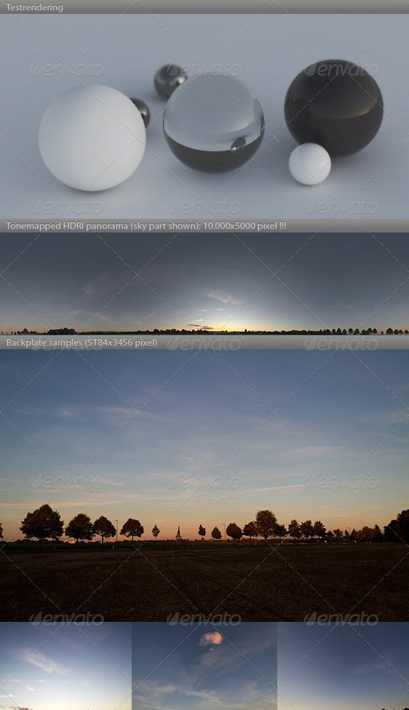 HDRI spherical sky panorama -1916- sommer dusk - 3DOcean Item for Sale