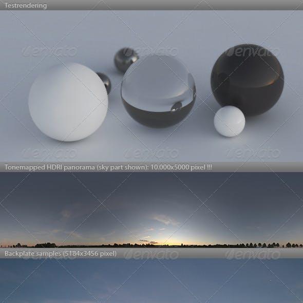 HDRI spherical sky panorama -1916- sommer dusk